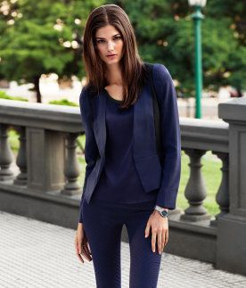 Figure-fit jacket with no lapels, side and shoulder sections in a contrasting colour, a seam at the waist, pleats at the front, and a hook-and-eye fastener. Lined. 91% polyester, 9% elastane.  S$ 79.90