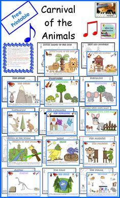 Carnival of the Animals Activities English Spanish Free ...