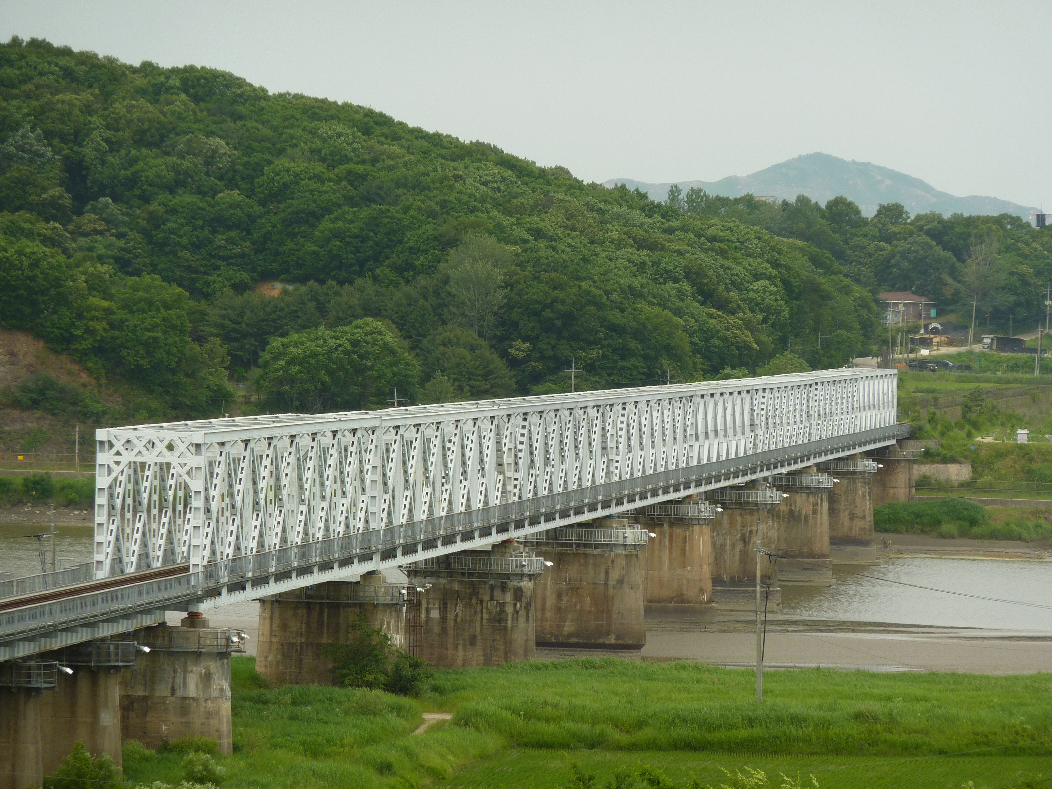 Dmz Train Bridge Links South To North Korea Around The Worlds North Korea Photo