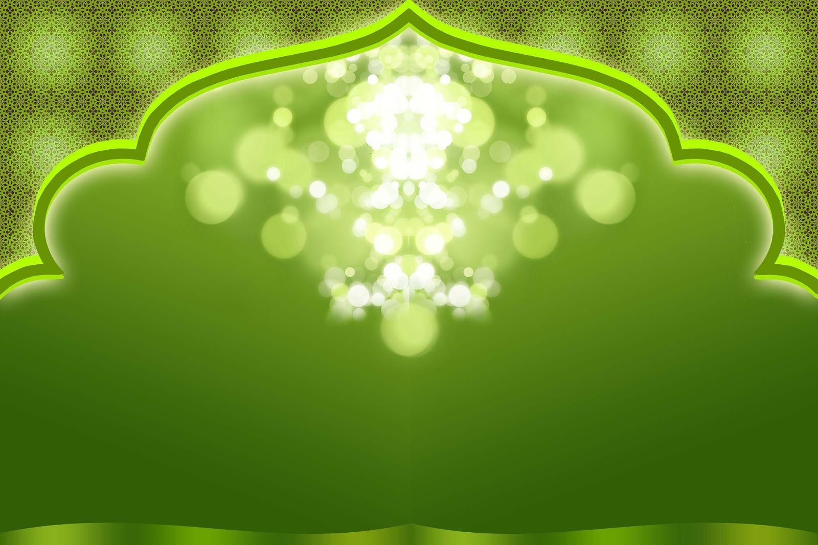 Islamic Background Wallpaper Green Presentation   Background Hijau ...