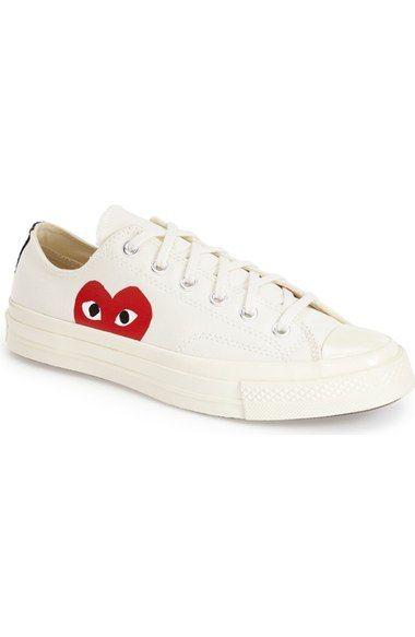 Comme des Garçons PLAY x Converse Chuck Taylor® Low Top Sneaker ...