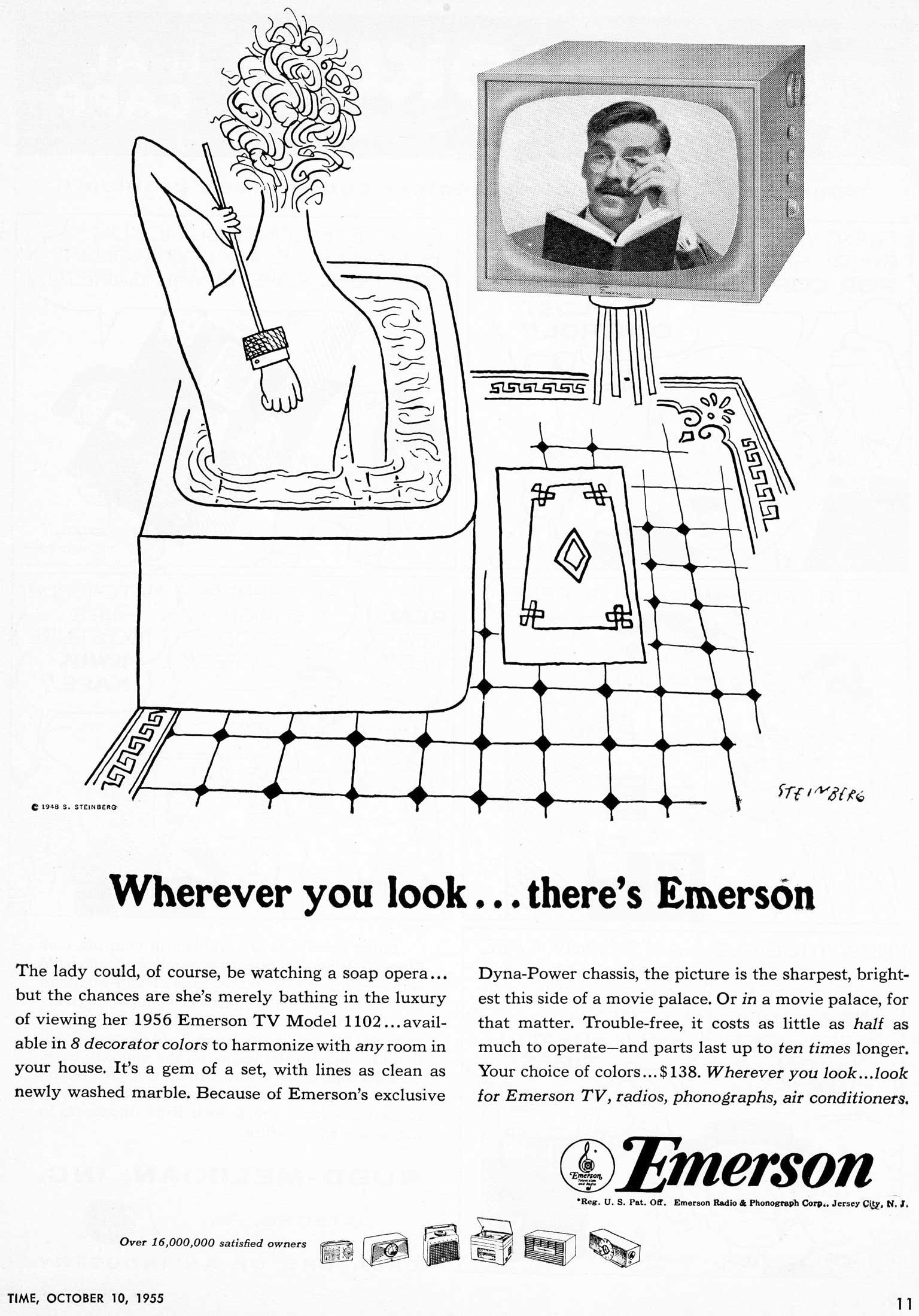 Advertisement for Emerson television, 1955.