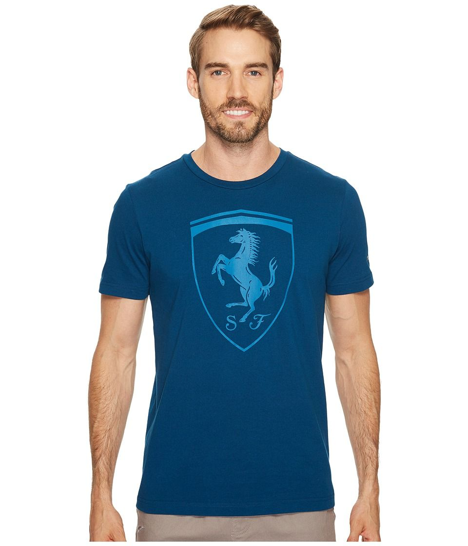 PUMA PUMA FERRARI BIG SHIELD TEE (SAILOR BLUE) MEN'S T