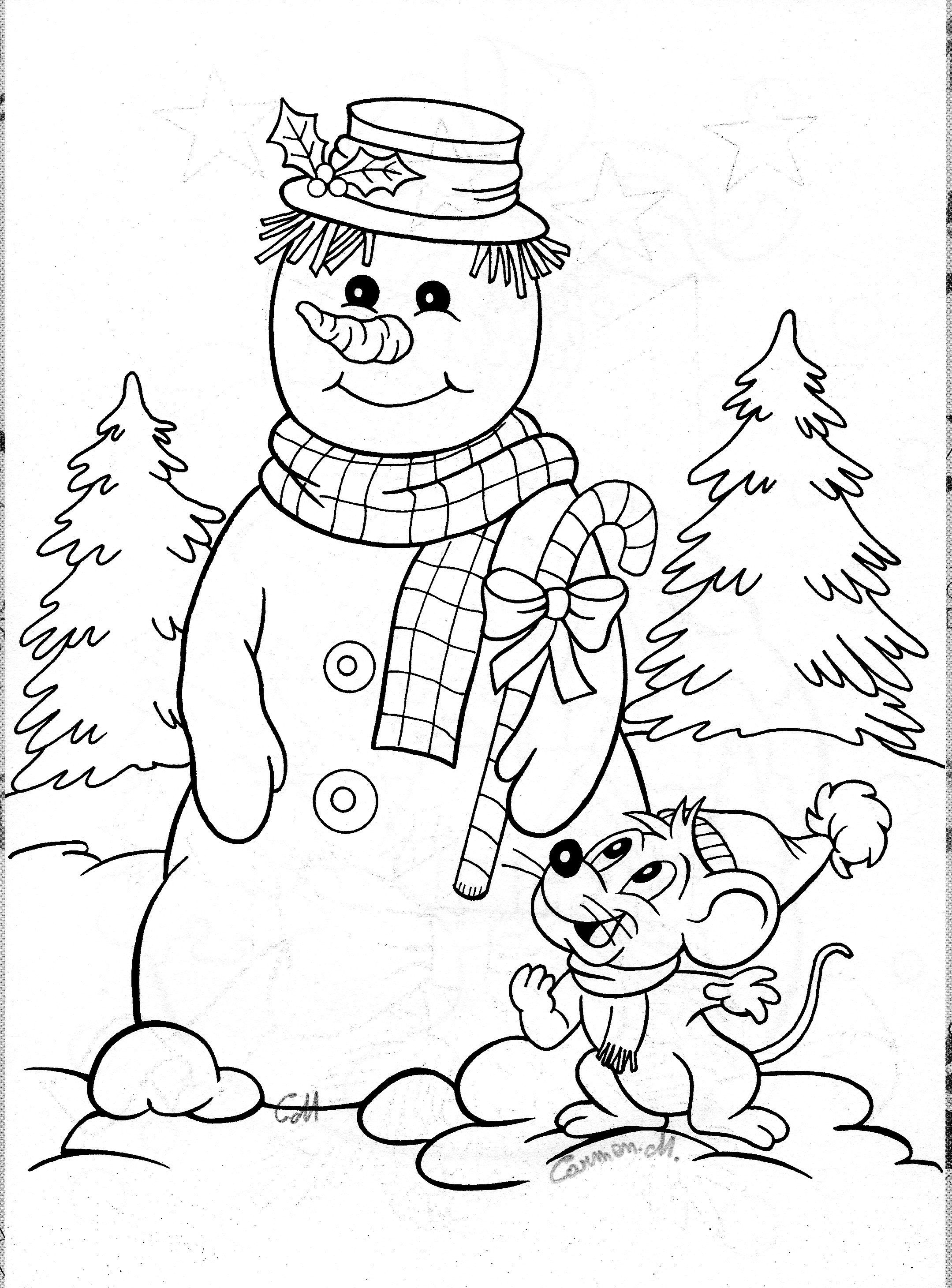 easy snowman coloring pages - photo#32