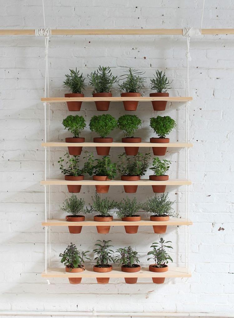 Vertikalen Krautergarten Anlegen 5 Platzsparende Ideen Vertikaler Garten Diy Gartenregal Vertikaler Krautergarten