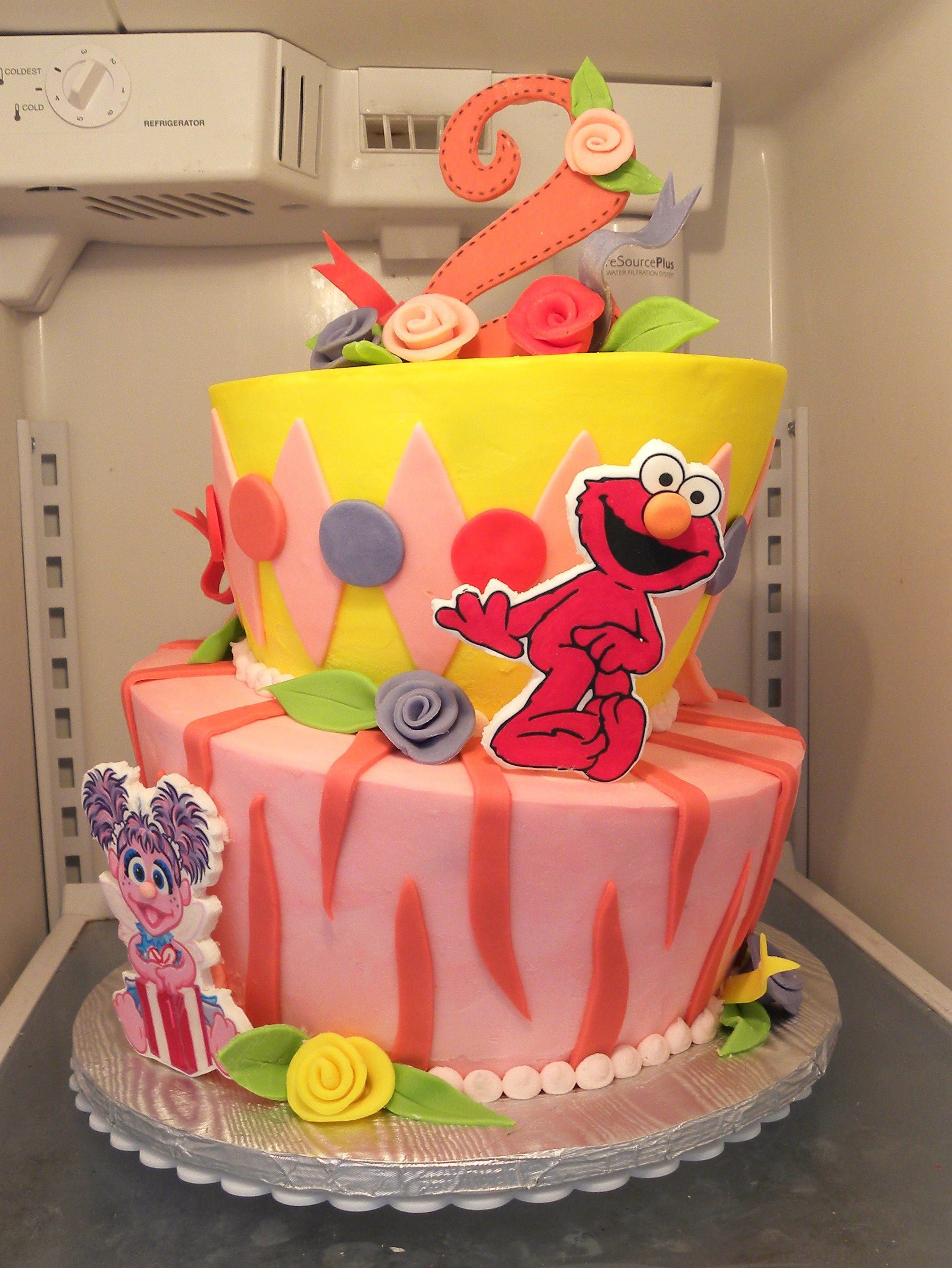 Girl S Sesame Street Cake With Images Elmo Birthday Party