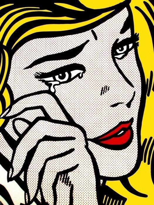 Roy Lichtenstein Crying Girl Pop Art Wall Print Poster Uk Ebay Pop Art Comic Lichtenstein Pop Art Pop Art