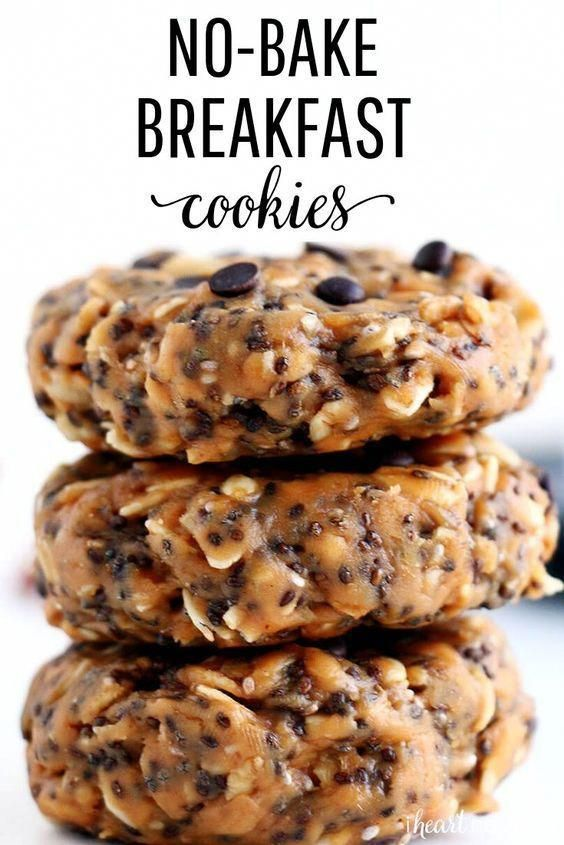 These No-Bake Breakfast Cookies are easy to make, healthy, packed with protein and simply delicious. They can be whipped up in less than 5 minutes and stored for up to two weeks. #breakfast #breakfastrecipes #breakfastideas #breakfastcookies #healthy #healthyrecipes #healtyfood #nobake #nobakecookies #snacks #snackideas #easyrecipe #recipes #iheartnaptime #deliciouscookie