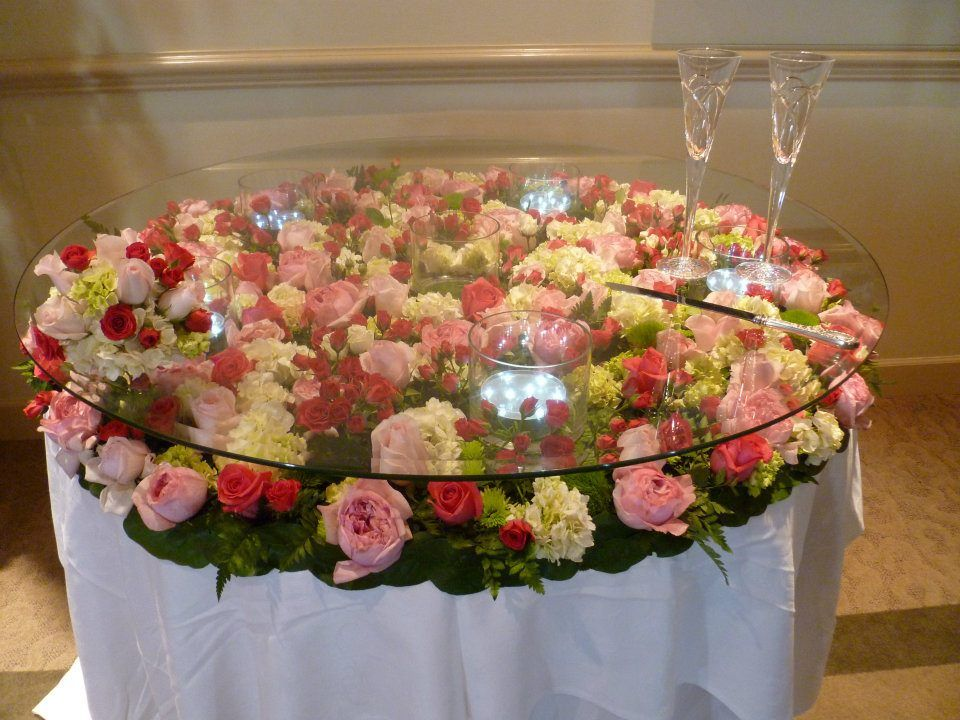Awesome Cake Table Flowers Under The Glass Wedding Cake Display Wedding Cake Display Table Cake Table Decorations