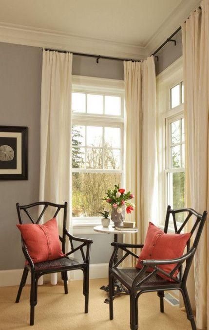 44 Ideas Kitchen Corner Window Treatments Spaces In 2020 Living Room Windows Home Corner Window Treatments