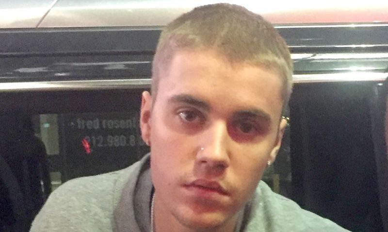 Justin Bieber Buzz Cut Blonde
