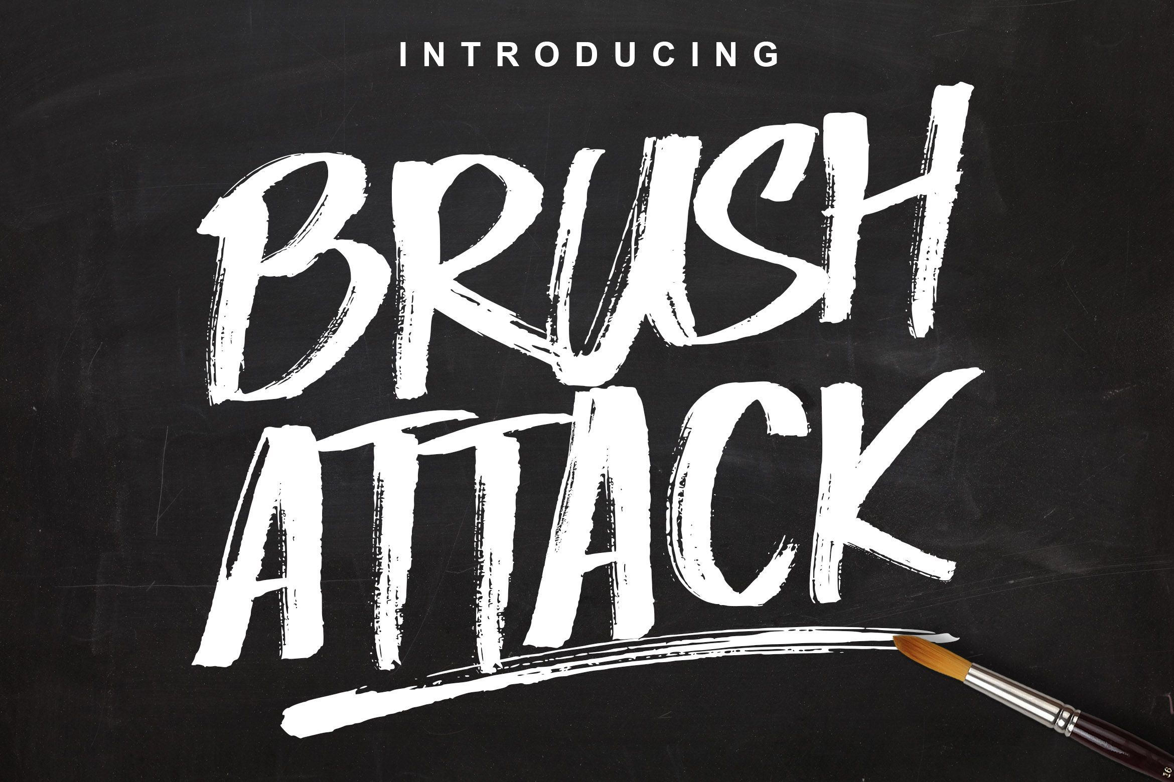 Brush Attack Brush Font Creative Fonts Pretty Fonts