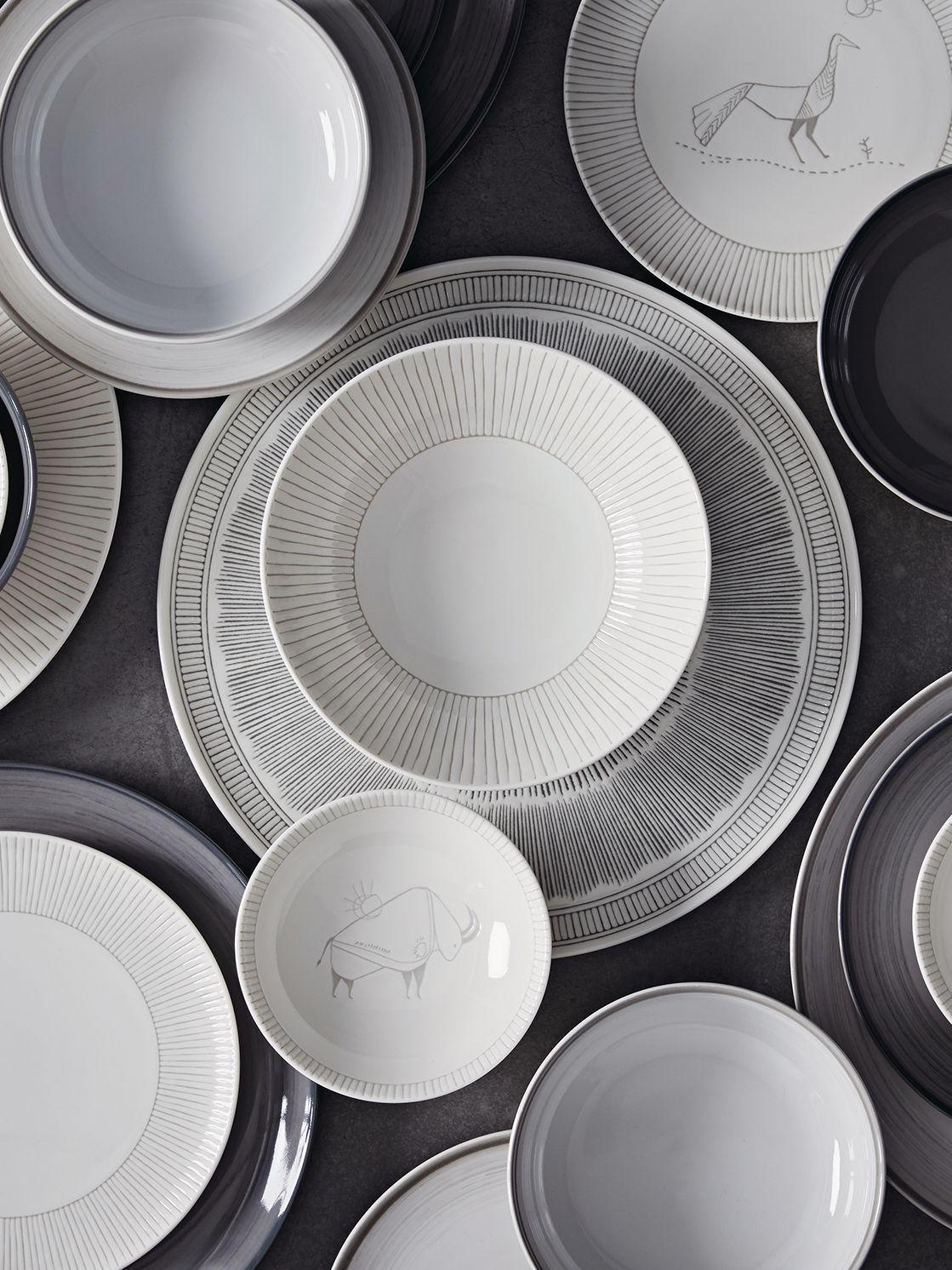 Royal Doulton Ellen Degeneres Grey Lines Pasta Bowl 24cm