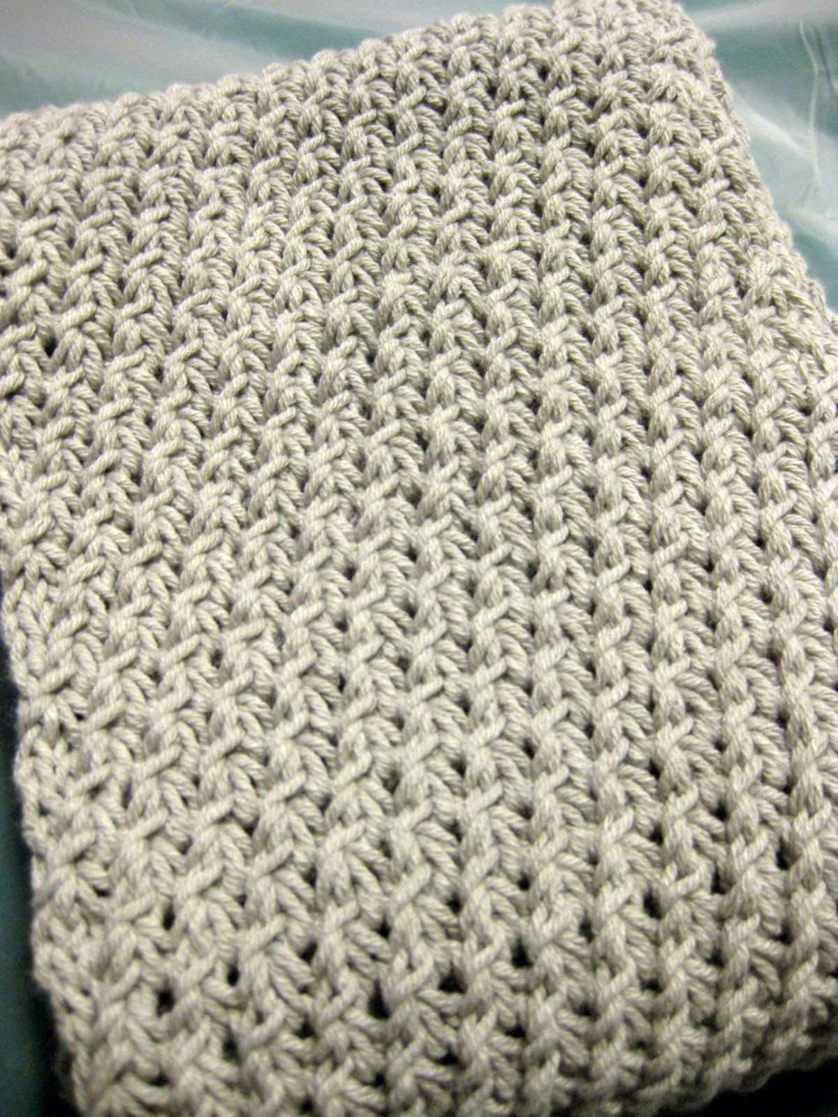 Make knot knit stitch. Link to pattern from blog entry ...