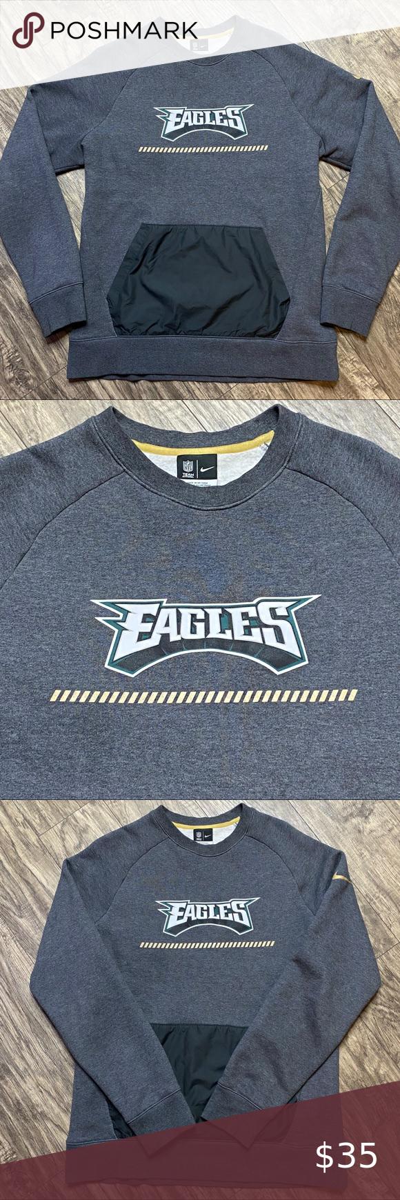 Nike Philadelphia Eagles Crewneck Sweatshirt Large Crew Neck Sweatshirt Sweatshirts Long Sleeve Tshirt Men [ 1740 x 580 Pixel ]