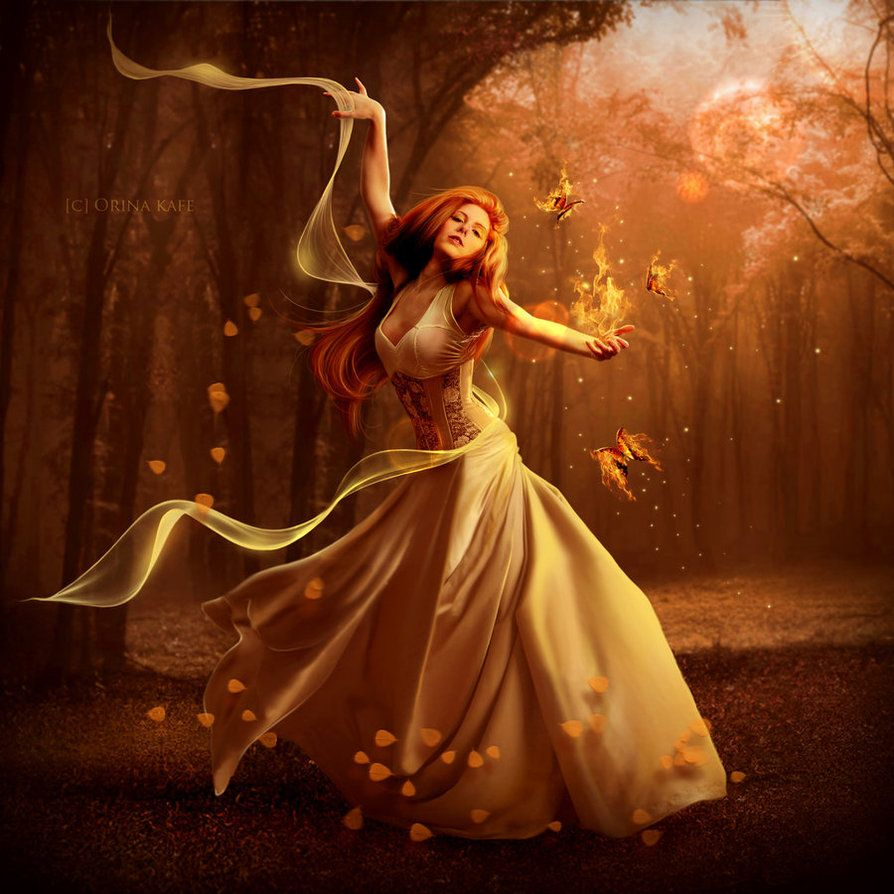 And she danced through the wood Like a gypsy girl should, And she ...