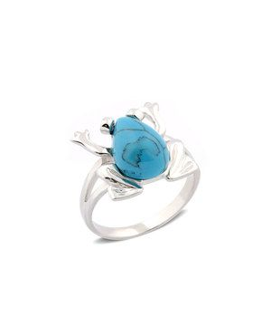 Sterling Silver & Turquoise Frog Ring by Regal Jewelry #zulily #zulilyfinds
