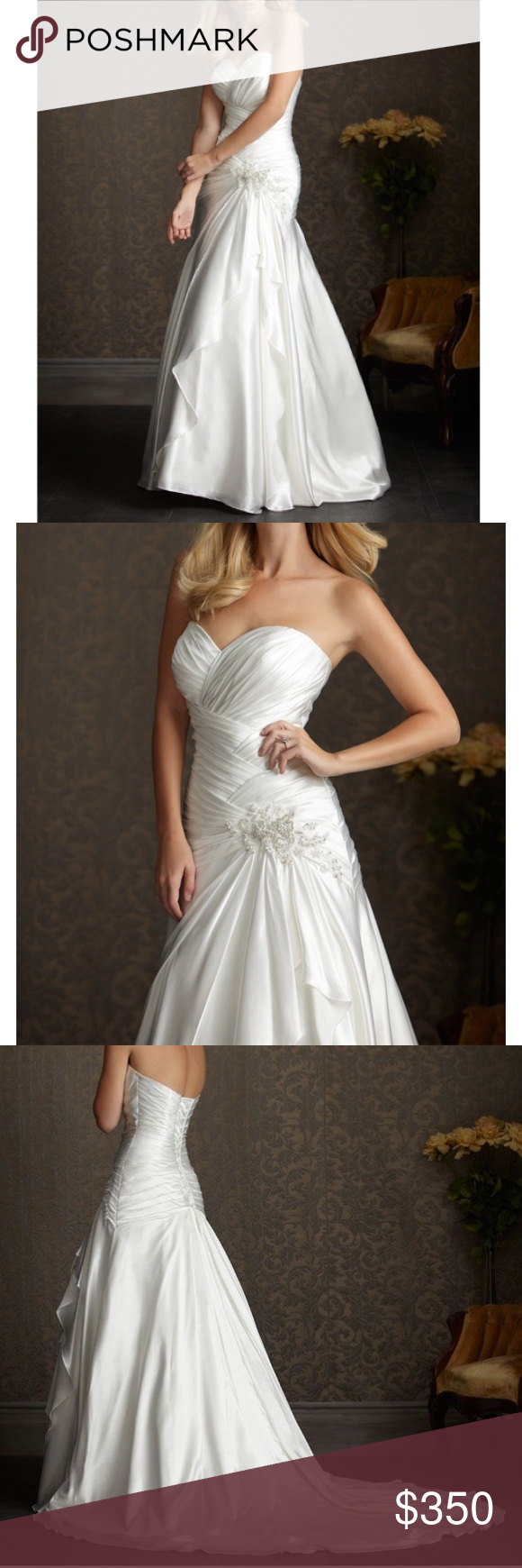 Allure bridal wedding dress drop waist style in my posh