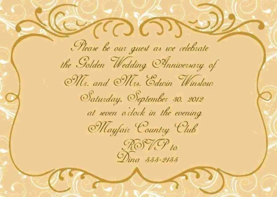 30 Beautiful Picture Of 50th Wedding Anniversary Invitation Wording Denchaihosp Com Golden Wedding Anniversary Invitations 50th Anniversary Invitations Wedding Anniversary Invitations
