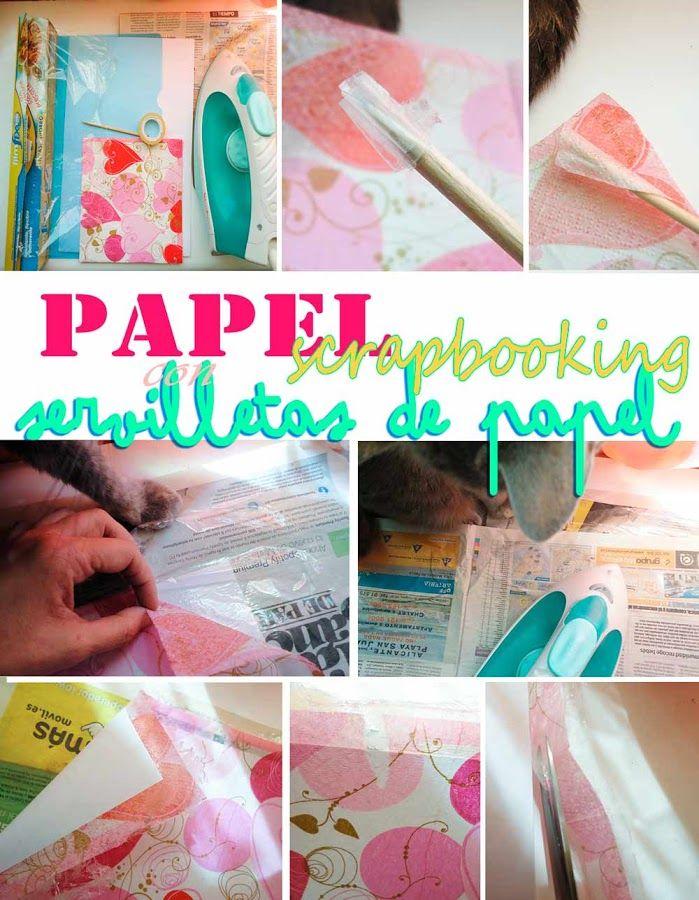Como hacer papel scrap con servilletas (I) | Manualidades