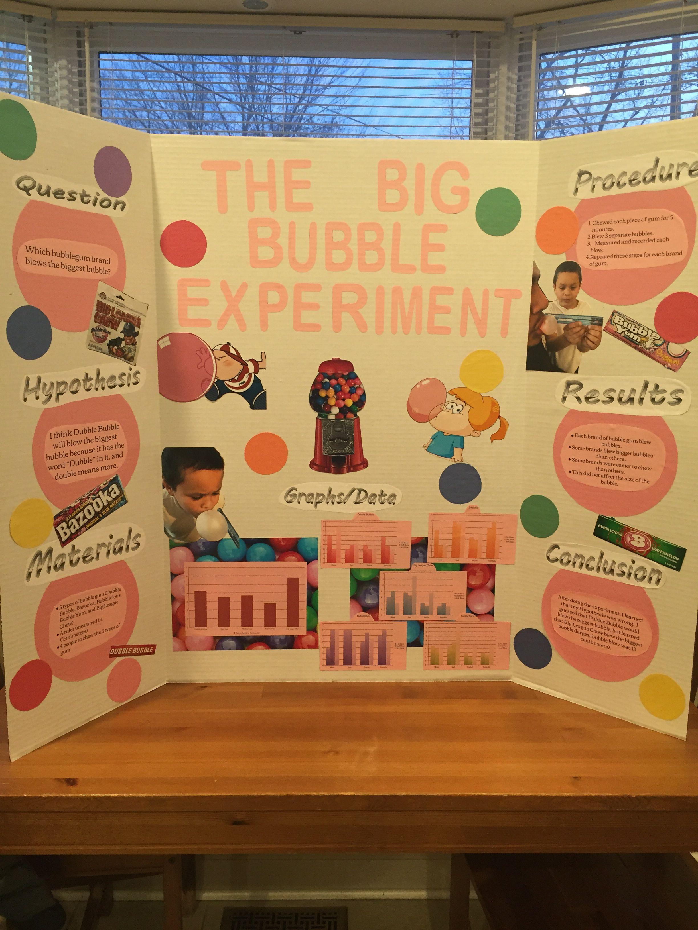 Science Fair Project The Big Bubble Experiment