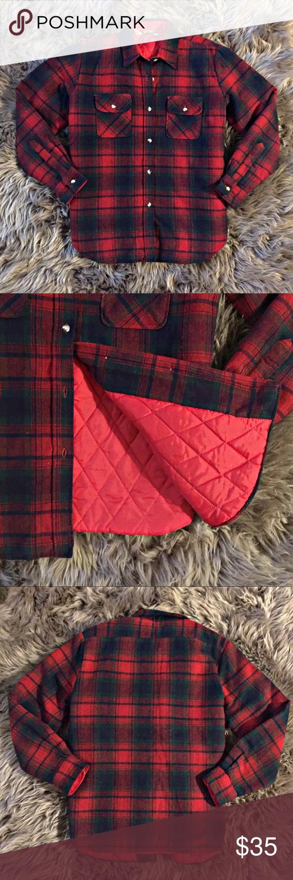 Flannel shirt vintage  Vintage Flannel Shirt Jacket Lined Warm Rugged  Shirt jacket