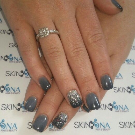 Acrylic Grey Ombre Classy Nails Powder Nails Nails
