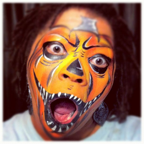 Pumpkin face Milwaukee Face Painter CaBeatrice Hart, Evolutionz - face painting halloween ideas