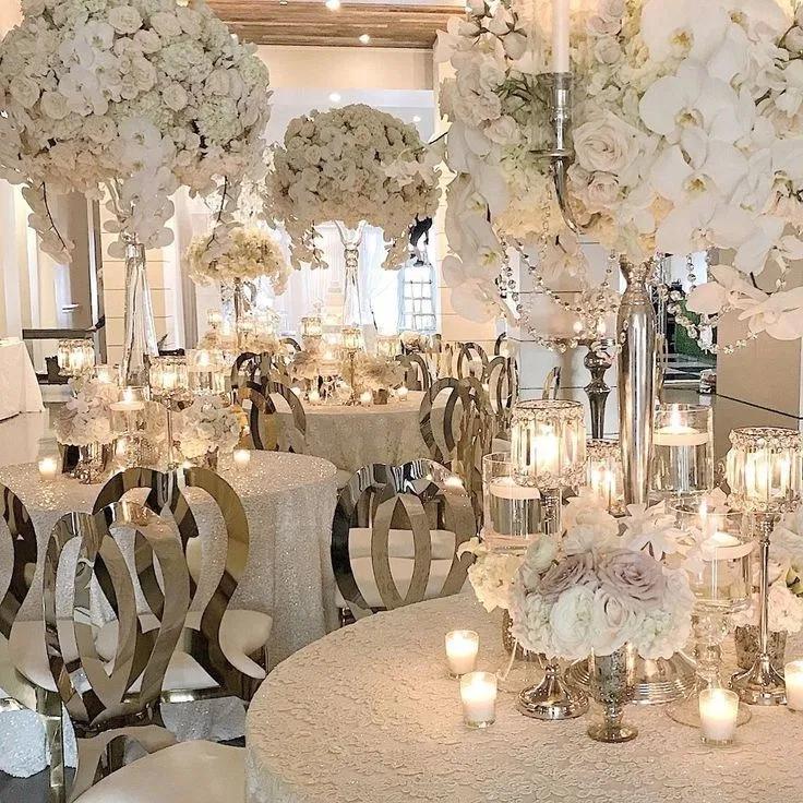 Elegant White Wedding Theme: Elegant Wedding Reception Ideas To Love 24