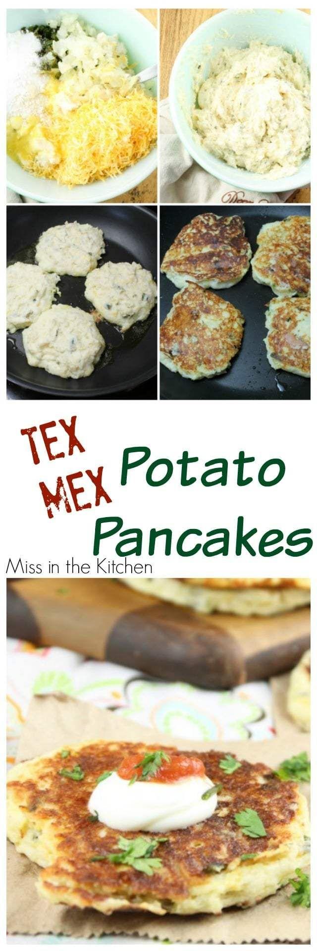 Tex- Mex Potato Pancakes #potatopancakesfrommashedpotatoes