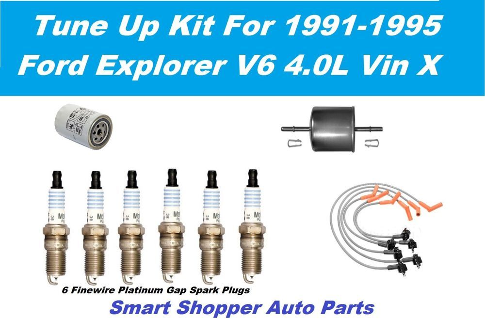 Details About 91 95 Ford Explorer V6 Motorcraft Spark Plug Wire