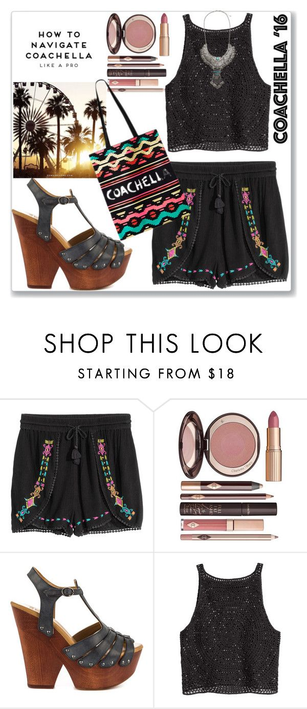 """""""Belle de Jour"""" by labelledejour ❤ liked on Polyvore featuring Charlotte Tilbury, Mojo Moxy and H&M"""