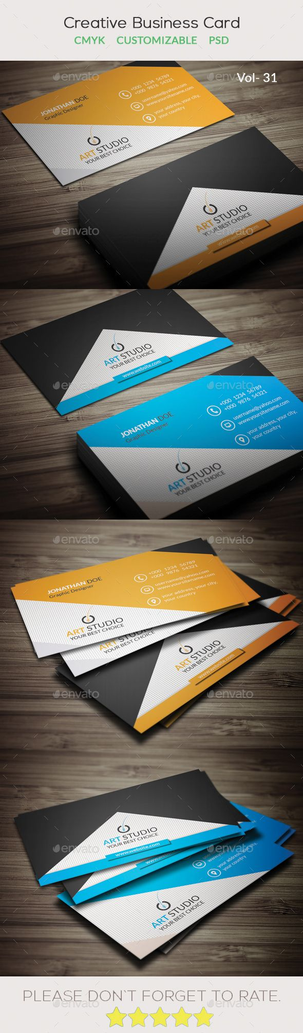 Creative Business Card V.31 | Business cards, Business and Creative