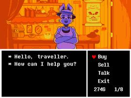 Snowdin Shopkeeper | Undertale | Undertale shop, Games