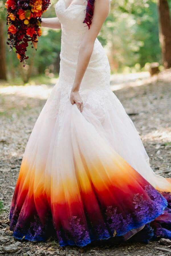 Dop Dyed Wedding Dress Dresses Dip Dye Wedding Dress
