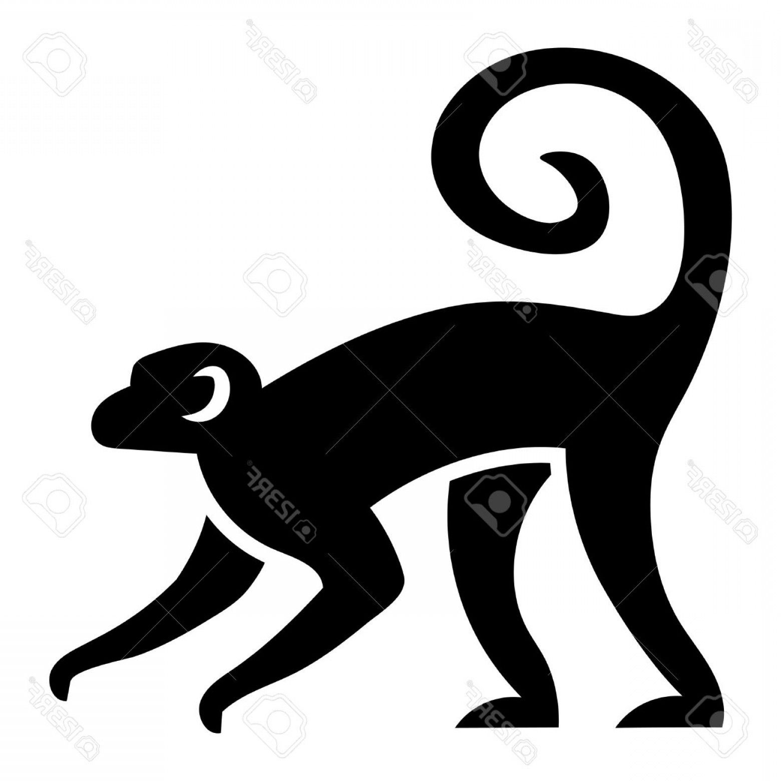 d980ca54d Monkey Vector: Photostock Vector Vector Stylized Monkey Illustration  Isolated On White Background