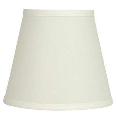 Allen Roth Lamp Shade Psh0240 7 In X 8 In White Fabric Cone