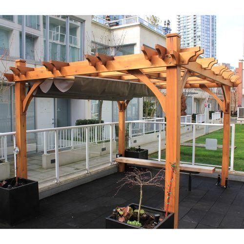Pergola Kits Costco | Breeze Pergola with Retractable Canopy - Pergola Kits Costco Breeze Pergola With Retractable Canopy