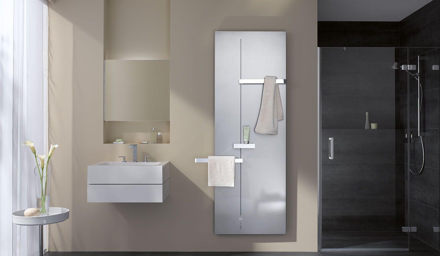 Interessant Kermi Fedon Design- und Badheizkörper in modernem Badezimmer  PB45