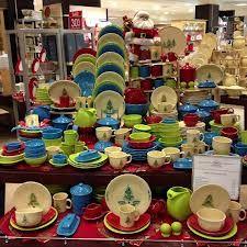 Fiesta® Christmas Tree Dinnerware Collection Display With  - Fiesta Christmas Tree Dinnerware