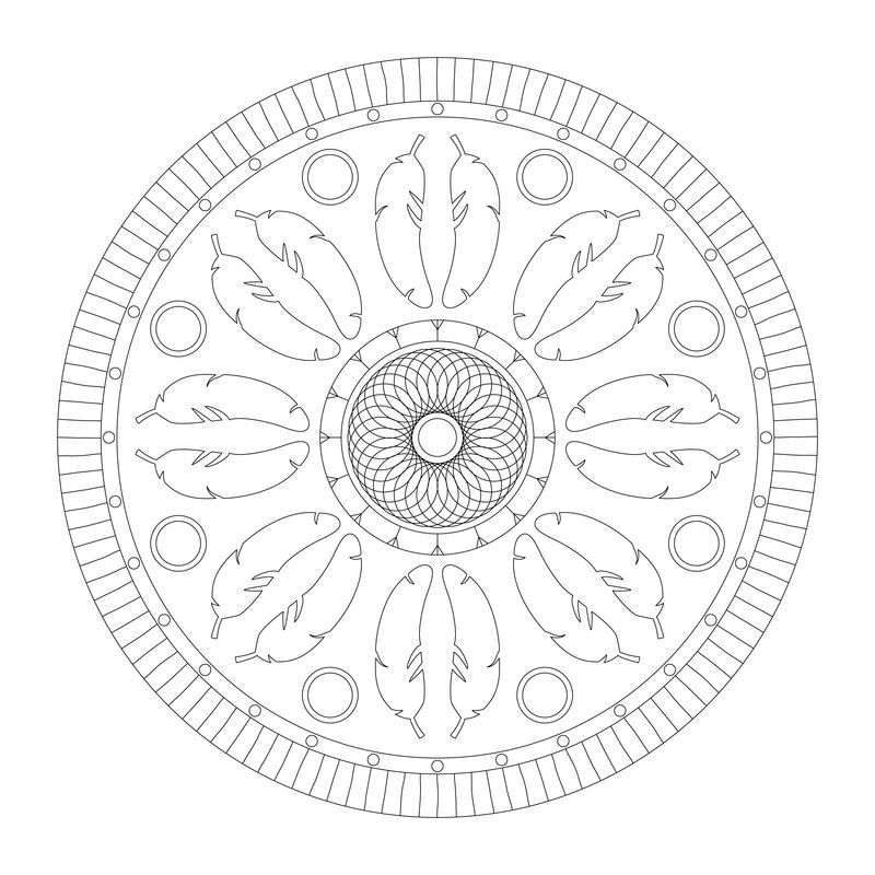 Indianer Mandala Mandala Circle Art Native Indian