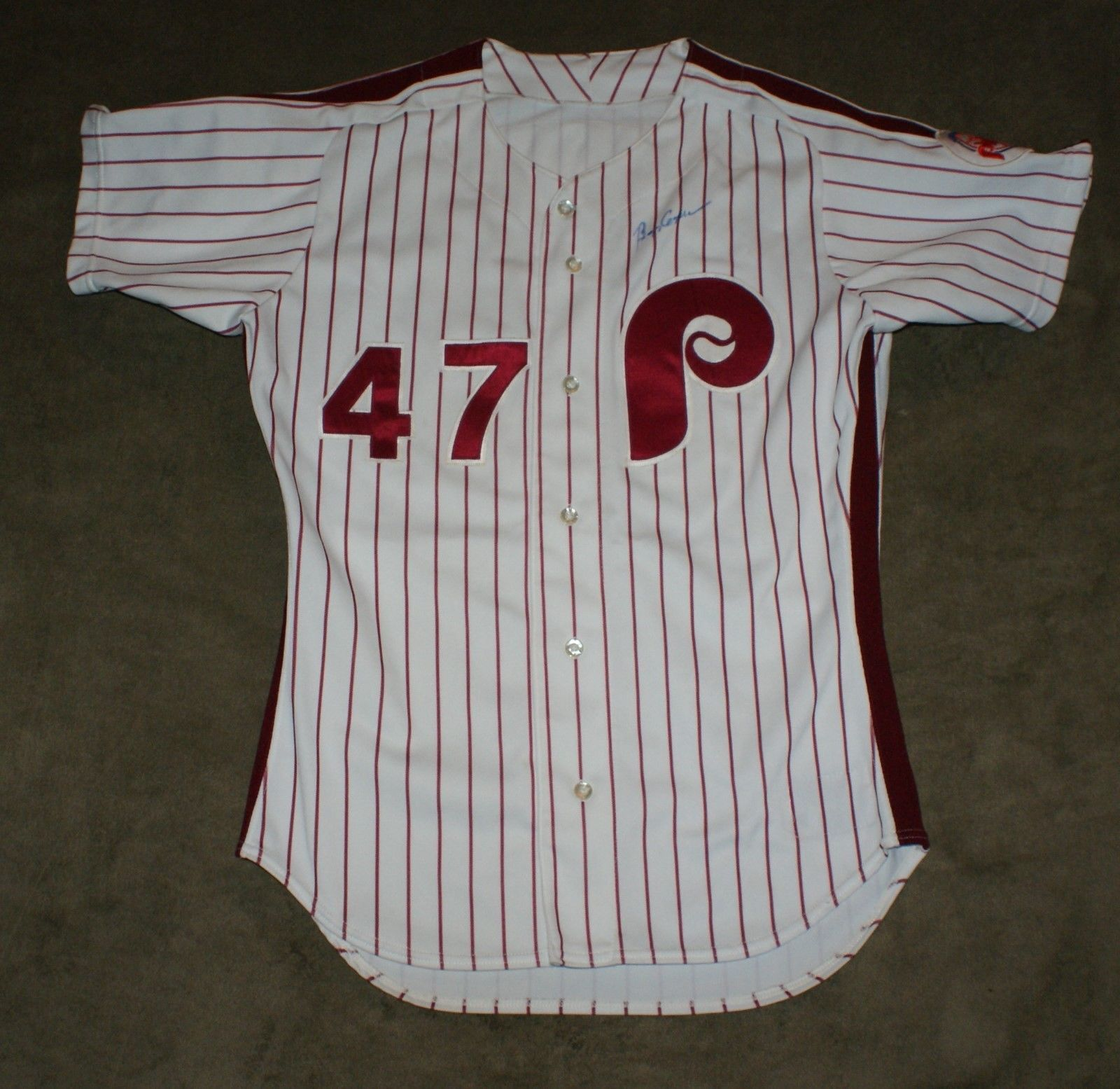 cool 1991 Phillies Buzz Capra Signed Autographed Game Used Worn Uniform JSA   Check more at http://harmonisproduction.com/1991-phillies-buzz-capra-signed-autographed-game-used-worn-uniform-jsa/