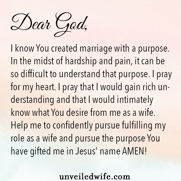 Prayer: Understanding God's Purpose For Marriage   marriages