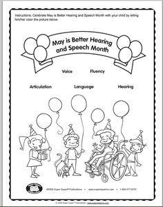 Better Speech And Hearing Coloring Page Speech Fun Speech