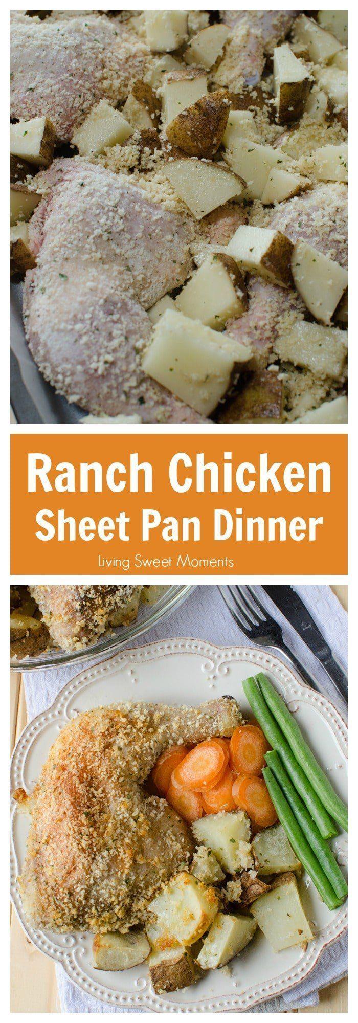 Ranch Potatoes And Chicken Sheet Pan Dinner #onepandinnerschicken