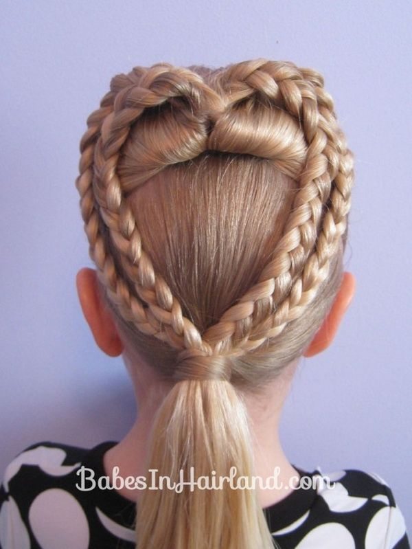 Cute Hairstyles For Little Girls Fair Cute Heart Braided Updo  Valentines Day Hairstyle Ideas  Pinterest