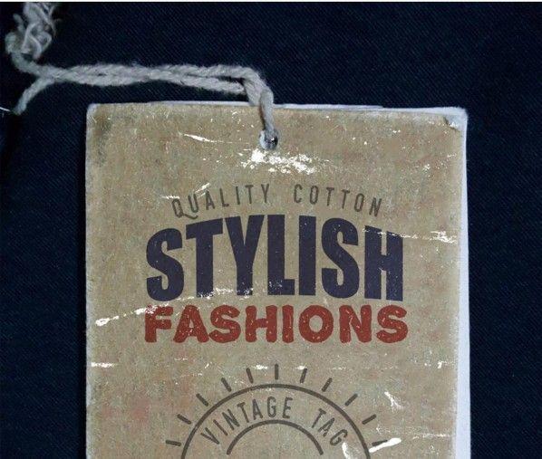 Vintage Clothing Label Mockup PSD MOCKUPS Labels Pinterest - abel templates psd