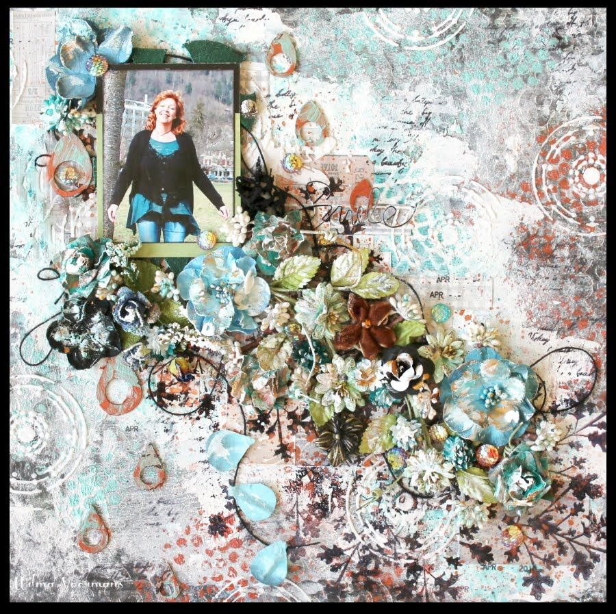 Mixed media scrapbooking by Wilma Voermans