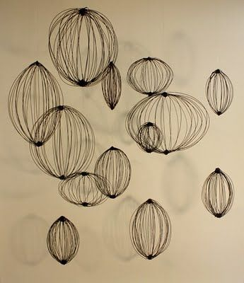 Wire installation by emily payne. via 16 house #art #wire #sculpture