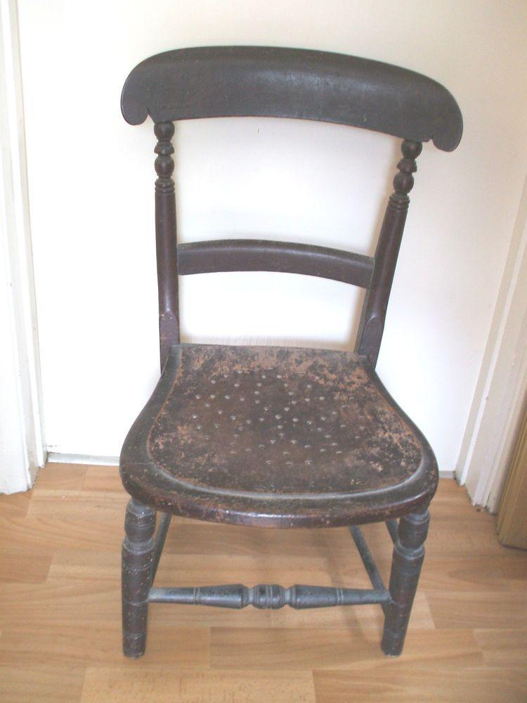 Exceptionnel Vintage Oak Child S/Short Leg Chair 28 High 18 Wide
